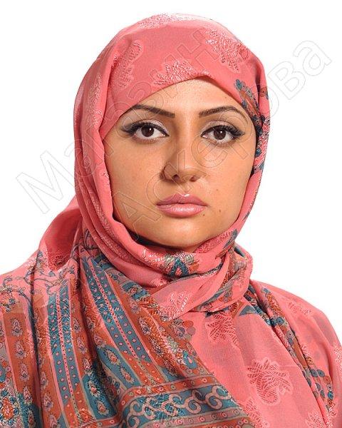 """Арабский шелковый палантин премиум качества """"Хрустальный жоржет"""" розовый"""
