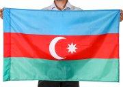 Государственный флаг Азербайджана (70x105 см) арт.12058