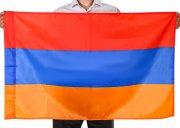 Государственный флаг Армении (70x105 см) арт.12060