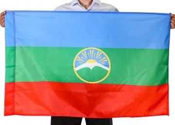 Флаг Карачаево-Черкесской  Республики (70x105 см)