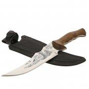 Нож Медведь (сталь 65Х13, рукоять дерево)