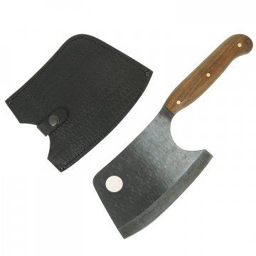 Топорик для разделки мяса Мастер (сталь 65Г, рукоять орех)