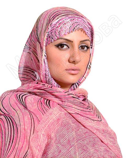 """Арабский палантин премиум качества """"Розовый кварц"""" кринкл"""