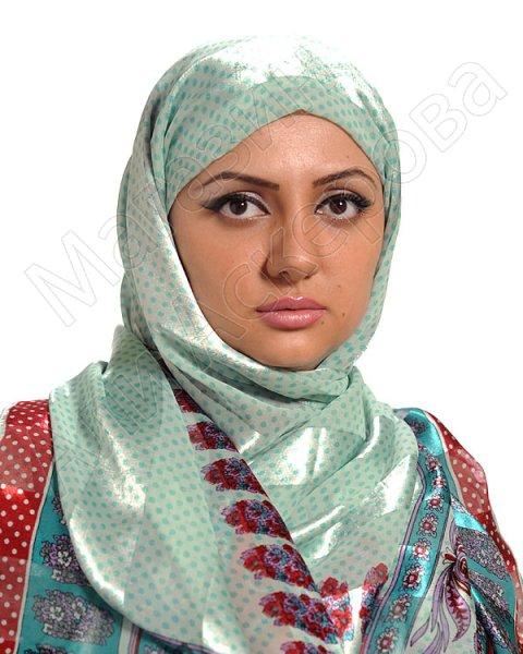"""Арабский шелковый палантин премиум качества """"Жасмин"""""""