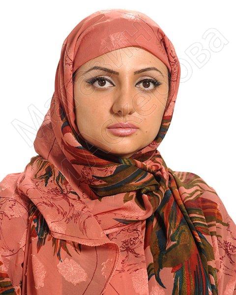 """Арабский шелковый палантин премиум качества """"Хрустальный жоржет"""""""