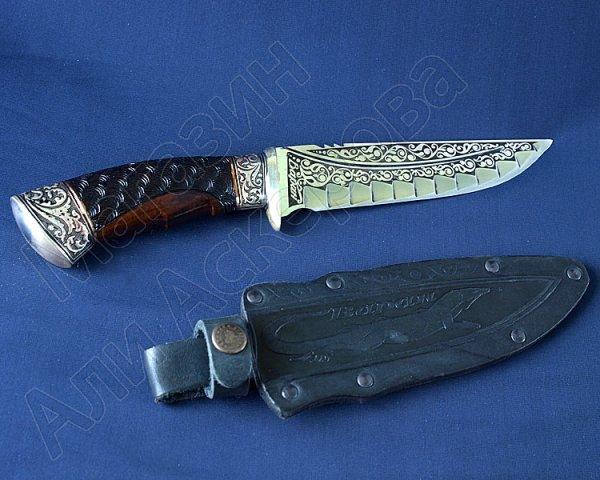 Туристический нож Варан (сталь 65Х13, рукоять дерево)