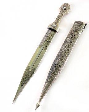Кавказский кинжал Ирбис №2 (ножны мельхиор)