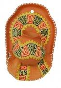 """Сувенирная глиняная тарелочка ручной работы """"Большой кувшин"""" в ассортименте желтый"""