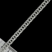 Серебряный браслет Бисмарк 22 см (ширина 0,6 см)