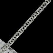 """Кубачинский серебряный браслет ручной работы """"Бисмарк"""" 23 см (ширина 0,6 см) арт.5895"""