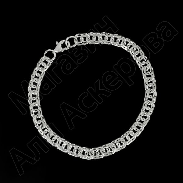 Серебряный браслет Бисмарк 20,5 см (ширина 0,6 см) арт.12136