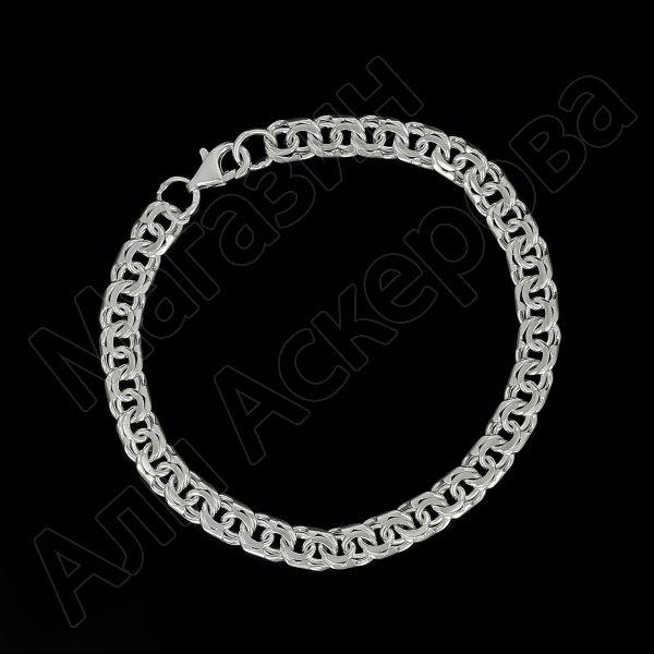 Серебряная цепь Бисмарк 65 см (ширина 0,9 см)