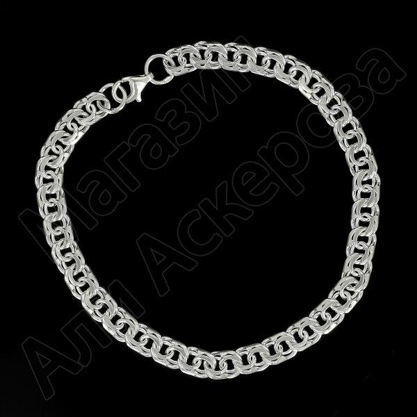 Серебряный браслет Бисмарк 23 см (ширина 1 см)