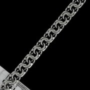 """Кубачинский серебряный браслет ручной работы """"Бисмарк"""" оксидированный 18 см (ширина 1,1 см) арт.5905"""