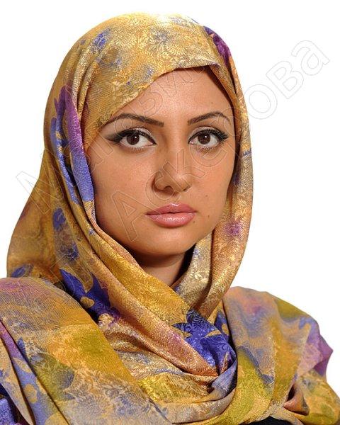 """Арабский шелковый палантин премиум качества """"Женское счастье"""""""