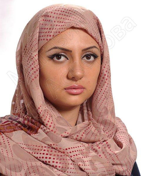 """Арабский шелковый палантин премиум качества """"Линия жизни"""""""