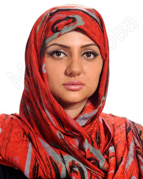 """Арабский атласный палантин премиум качества """"Красота Востока"""""""