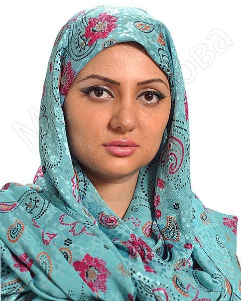 """Мусульманский шелковый палантин премиум качества """"Украшение девушки"""""""