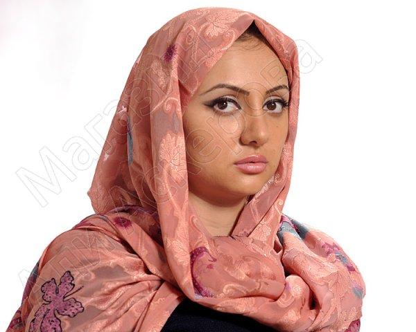 """Арабский шелковый палантин премиум качества """"Хрустальный жоржет"""" светло-розовый"""