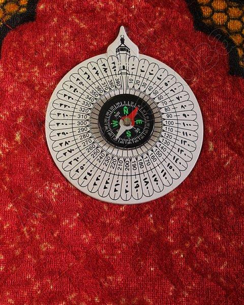 Коврик дорожный молитвенный с компасом №3
