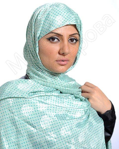 """Арабский шелковый палантин премиум качества """"Небеса"""""""
