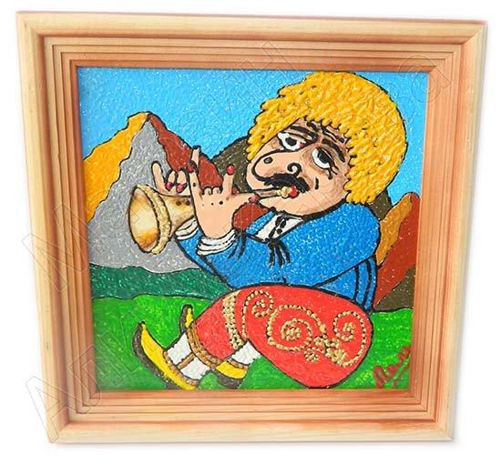 "Подарочная картина ""Пастух с дудкой"" ручная работа (масло)"