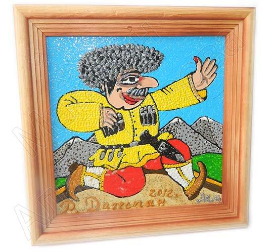 "Подарочная картина ""Танцующий горец"" ручная работа (масло)"