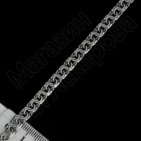 Серебряная цепь Бисмарк 55 см (ширина 0,6 см)