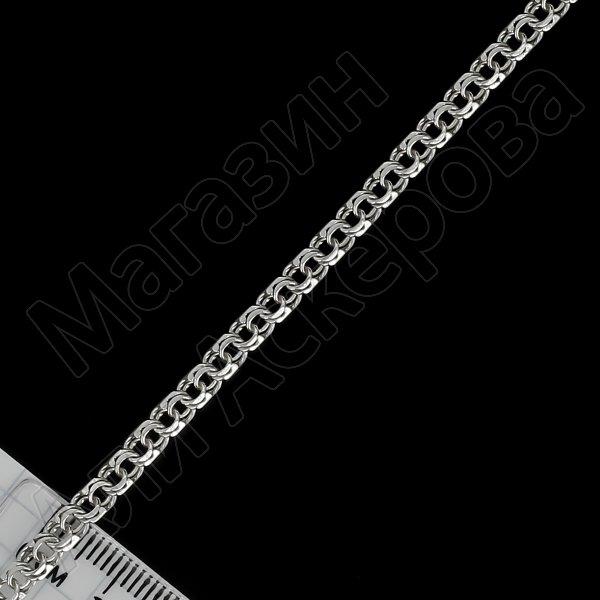 Серебряный браслет Бисмарк 19,5 см (ширина 0,4 см) арт.12141