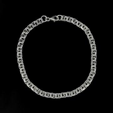 Серебряный браслет Бисмарк 18 см (ширина 0,5 см)