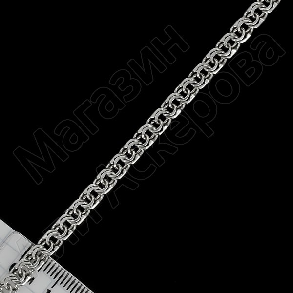 Серебряная цепь Бисмарк 60 см (ширина 0,5 см)