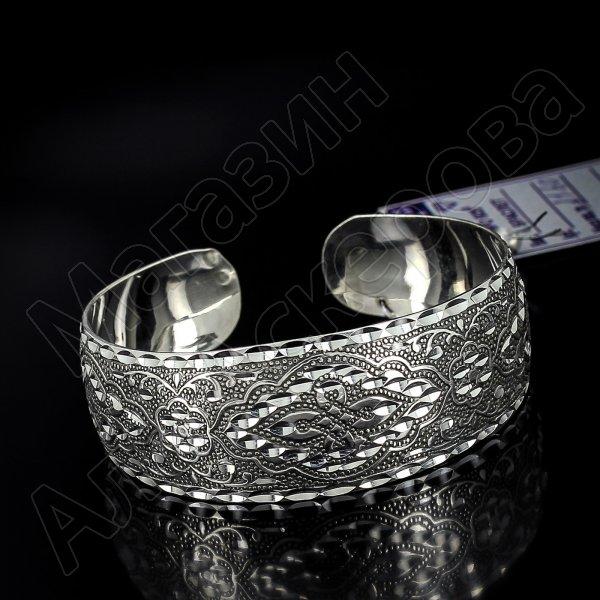 Серебряный кубачинский браслет с алмазной гранью №11