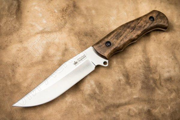 Нож Caspian Kizlyar Supreme (сталь AUS-8 SW, рукоять орех)