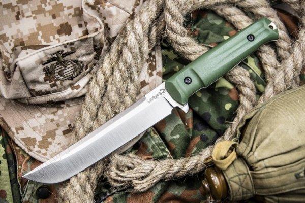 "Охотничий нож ""Senpai"" (сталь - AUS-8, рукоять - кратон) арт.5051"