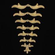 Нагрудники латунные ручной работы на женский костюм мастера Магомеда Идрисова (7 элементов) арт.5289