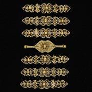 Нагрудники латунные ручной работы на женский костюм мастера Магомеда Идрисова (7 элементов) арт.5291