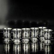 Серебряные стопки Кубачи ручной работы (6 персон) арт.5561