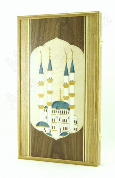 Нарды ручной работы Мечеть (кавказский дуб)