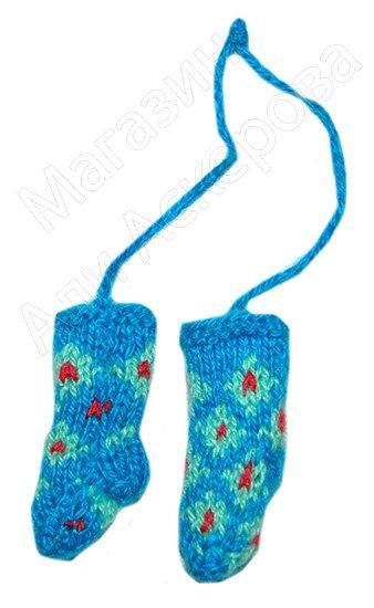 Джурабки сувенирные голубые с цветочками