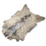 Натуральная козья шкура (цвет - светло-бежевый, длинный ворс, ручная выделка) арт.6154