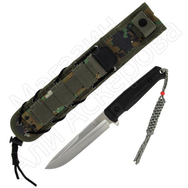 Тактический нож Alpha Kizlyar Supreme (сталь AUS-8 Satin, рукоять кратон)