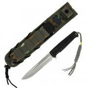 Тактический нож Alpha Kizlyar Supreme (сталь AUS-8 Satin Serrated, рукоять кратон) арт.4225