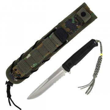 Тактический нож Alpha Kizlyar Supreme (сталь AUS-8 Satin Serrated, рукоять кратон)