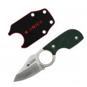 """Шейный нож """"Amigo X"""" (сталь - D2 Satin, рукоять - G10 Green) арт.4234"""