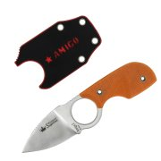Шейный нож Amigo Z (сталь D2 Satin, рукоять G10 Orange)