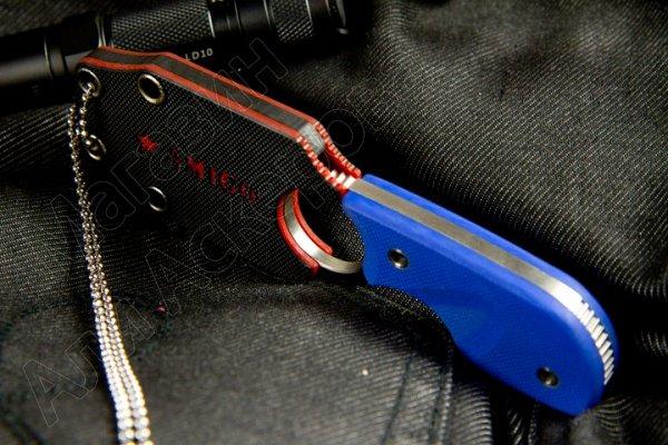 Шейный нож Amigo Z (сталь AUS-8 Satin, рукоять G10 Blue)