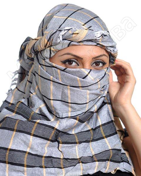 """Стильная арабская арафатка (куфия) """"Ниямеддин"""" премиум качества из натурального хлопка"""