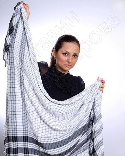 """Стильная арабская арафатка (куфия) премиум качества """"Аравия"""" из натурального хлопка"""