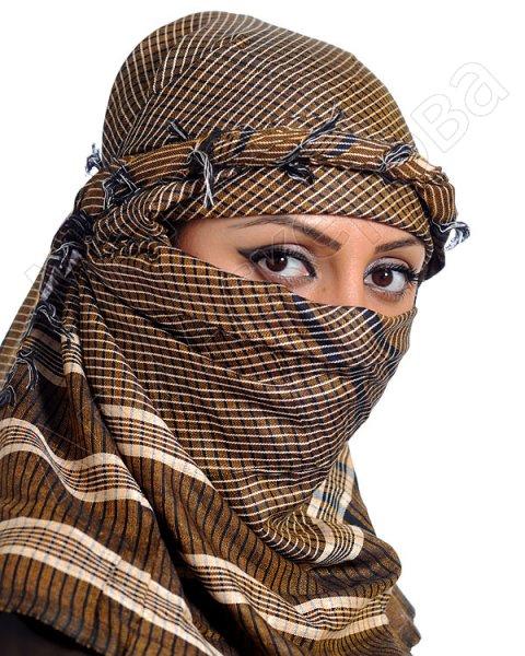 """Стильная арабская арафатка (куфия) премиум качества """"Бейтулла"""" из натурального хлопка"""