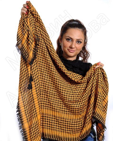 """Стильная арабская арафатка (куфия) премиум качества """"Сарылык"""" из натурального хлопка"""